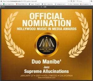 Nomination 2021-DUO MANIBE'